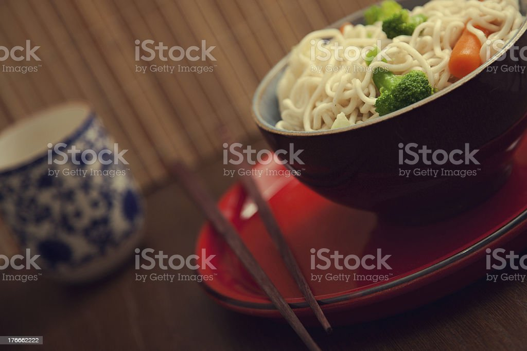 Asian noodle soup royalty-free stock photo