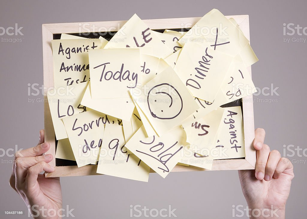 asian notice board royalty-free stock photo