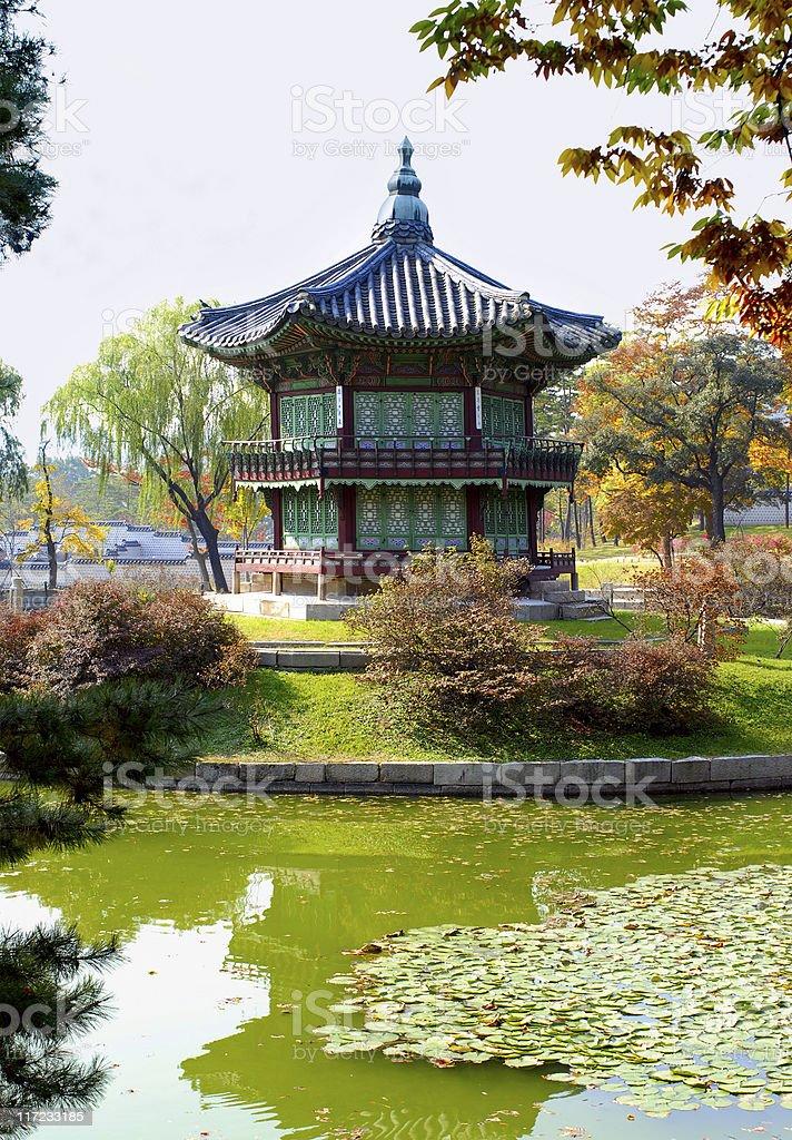 Asian palace or temple pagoda royalty-free stock photo