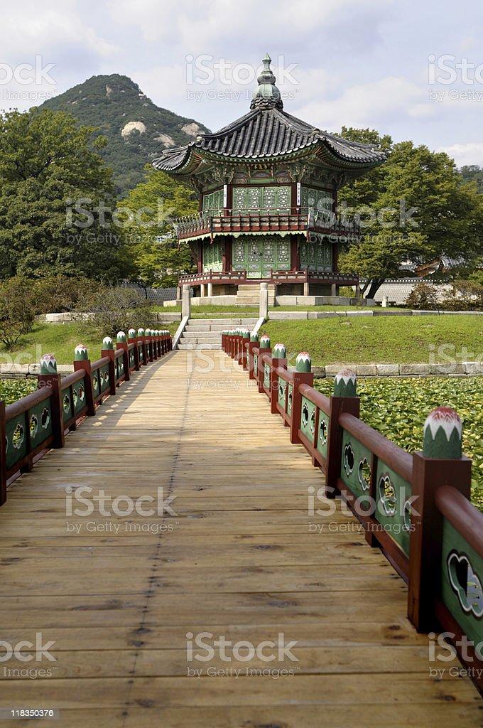 Asian palace pagoda royalty-free stock photo