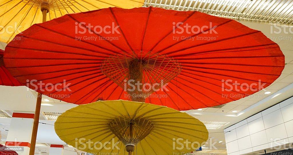 Asian Paper Umbrella stock photo