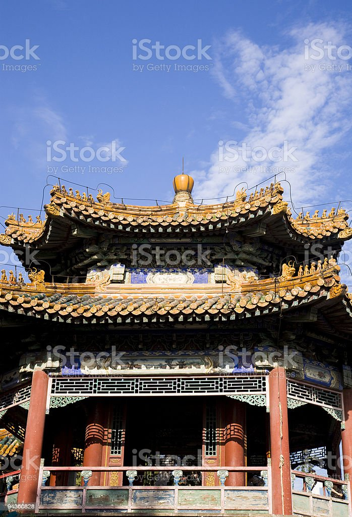 asian pavilion royalty-free stock photo