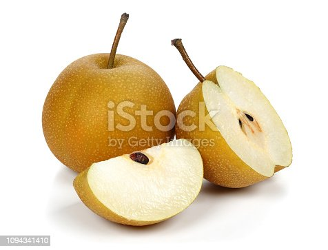 several ripe pears ready to be picked