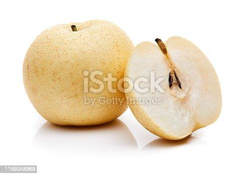 Asian pears in Natick, Massachusetts