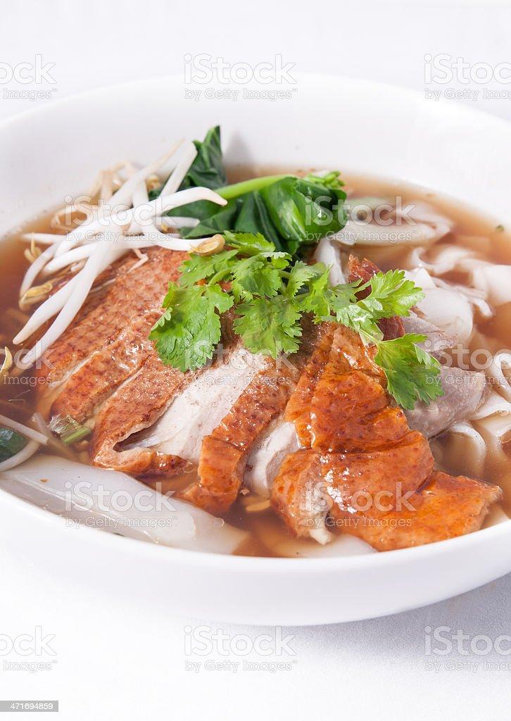 asian Peking Duck noodle soup royalty-free stock photo