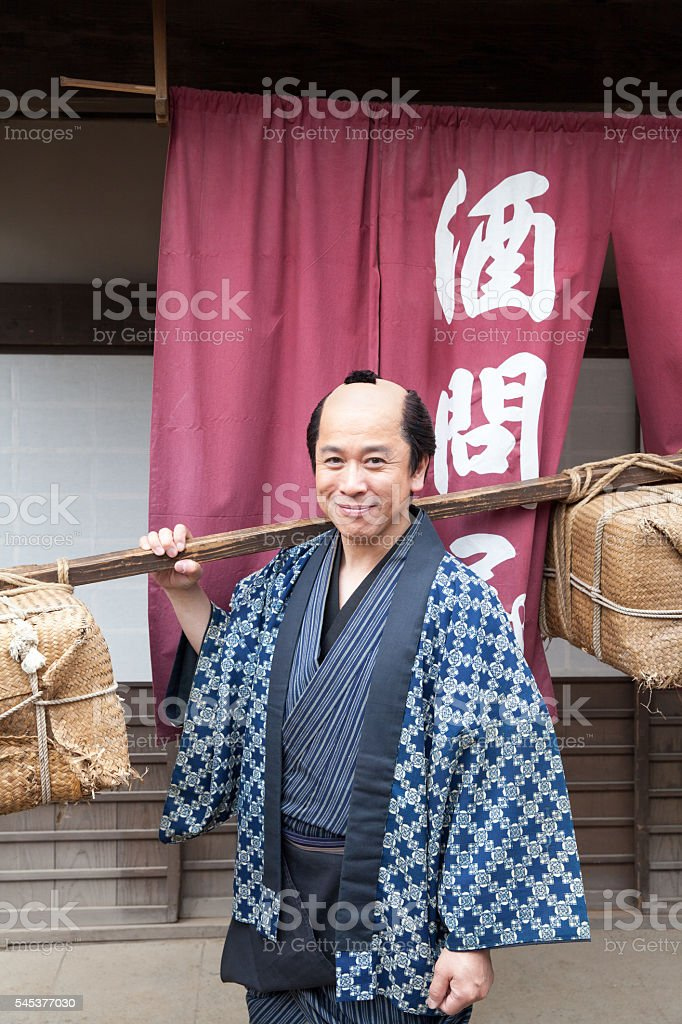 asian people in old town stock photo