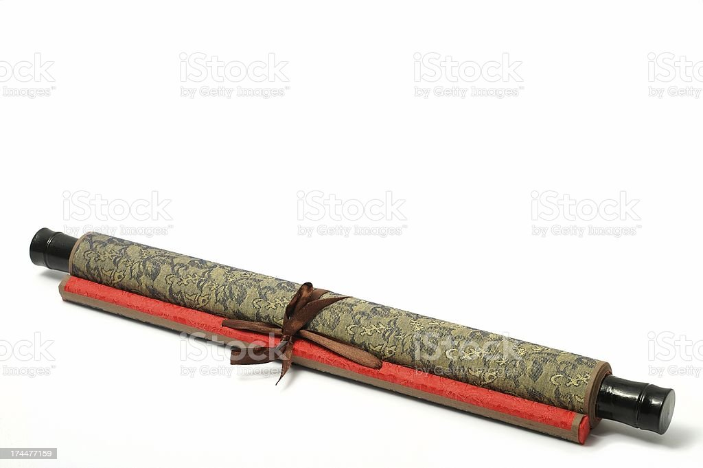Asian Picture Scroll stock photo