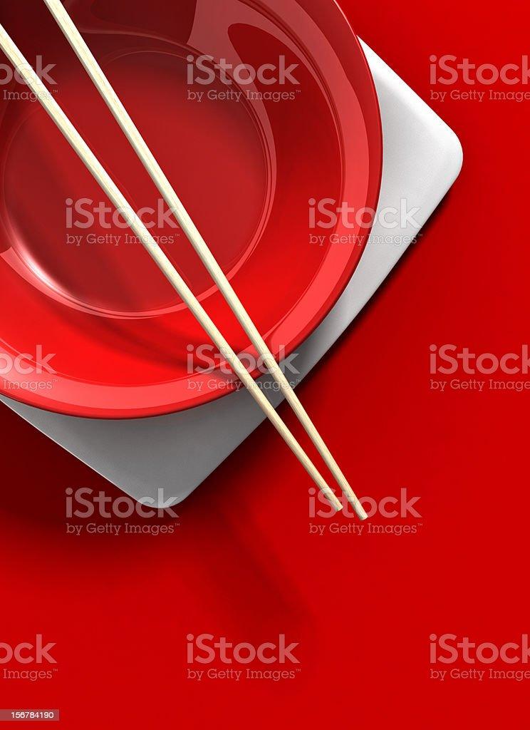 Asian Place Setting stock photo