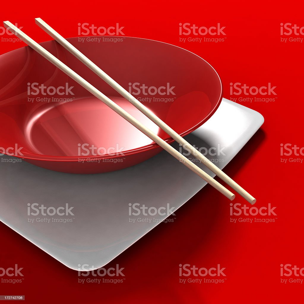 Asian Place Setting royalty-free stock photo