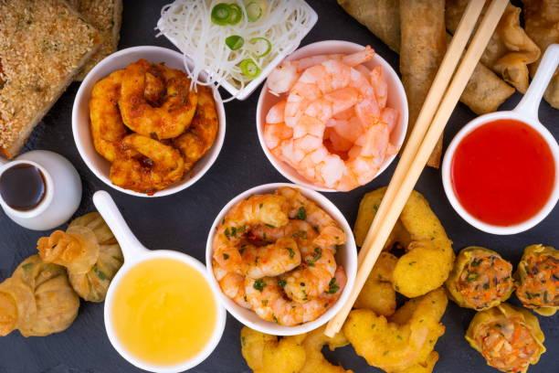 Asian Prawn Selection stock photo