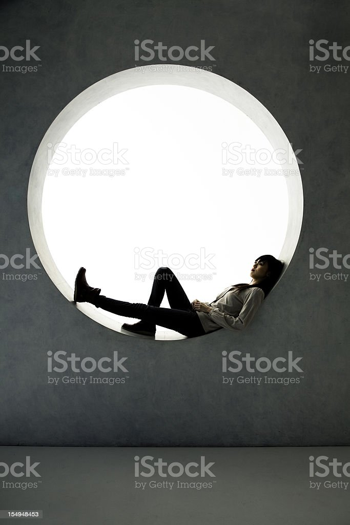 Asian Relaxation stock photo
