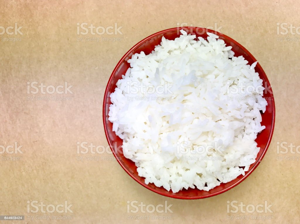 Asian rice bowl stock photo