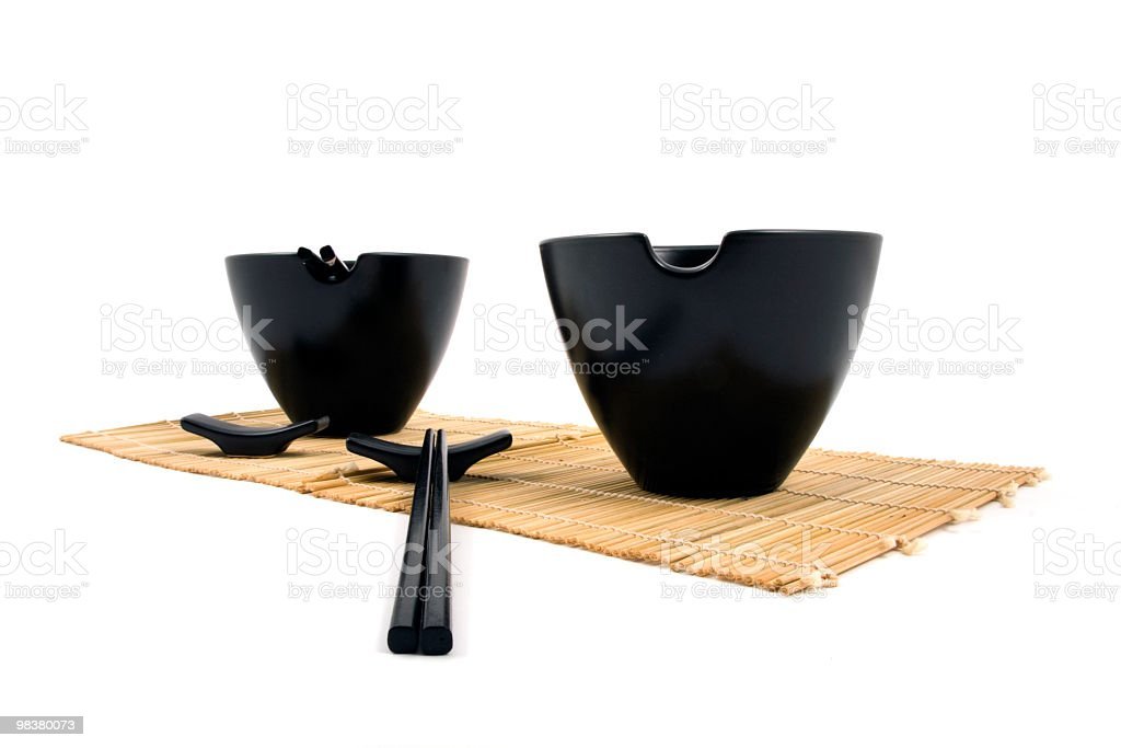 Asian rice bowls royalty-free stock photo