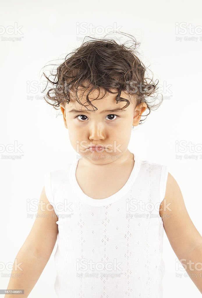 Asian sad little girl royalty-free stock photo