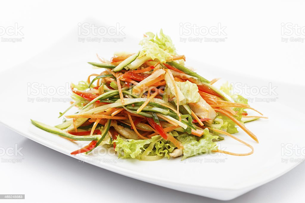 asian salad stock photo