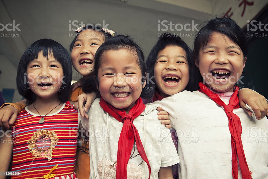 Asian school children stock photo