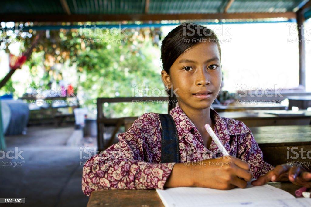 Asian school girl at school圖像檔