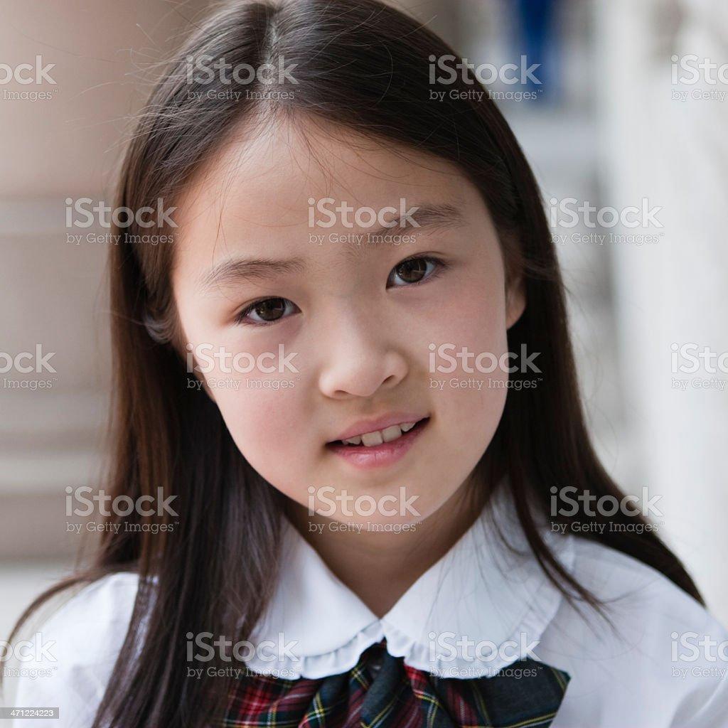 Asian Schoolgirl Royalty Free Stock Photo