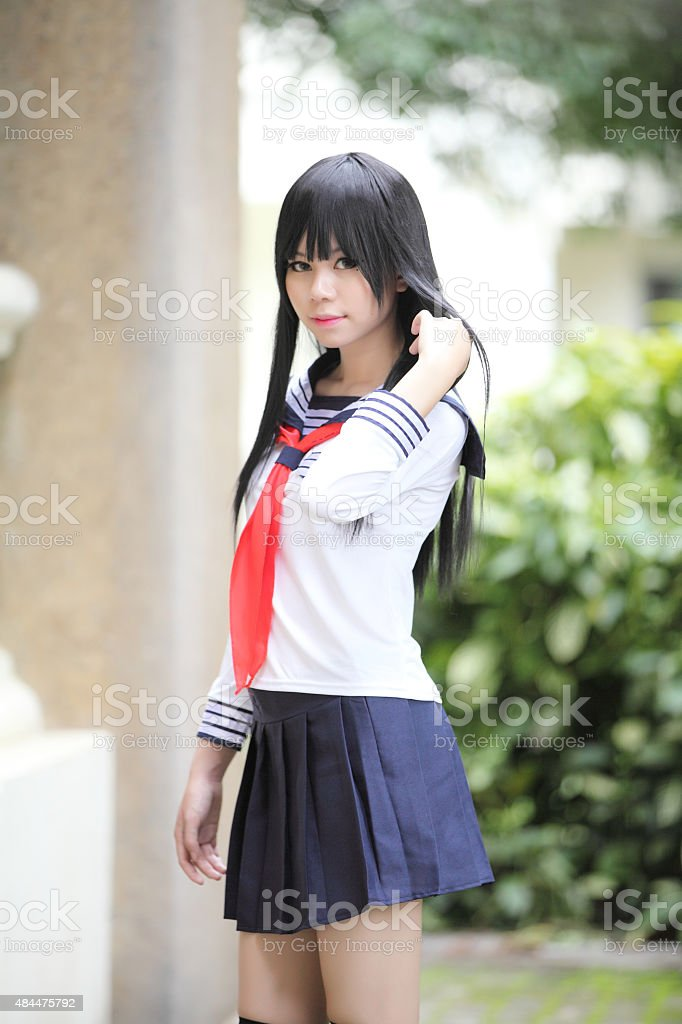 Asian Schoolgirl Stock Photo