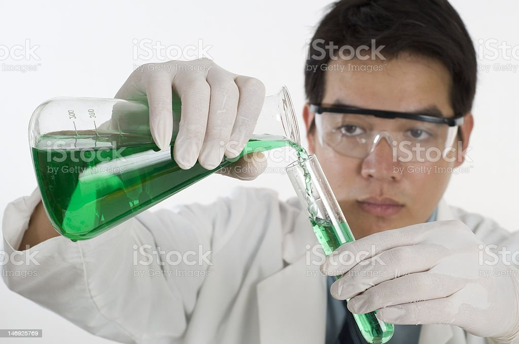 Asian Scientist doing research royalty-free stock photo