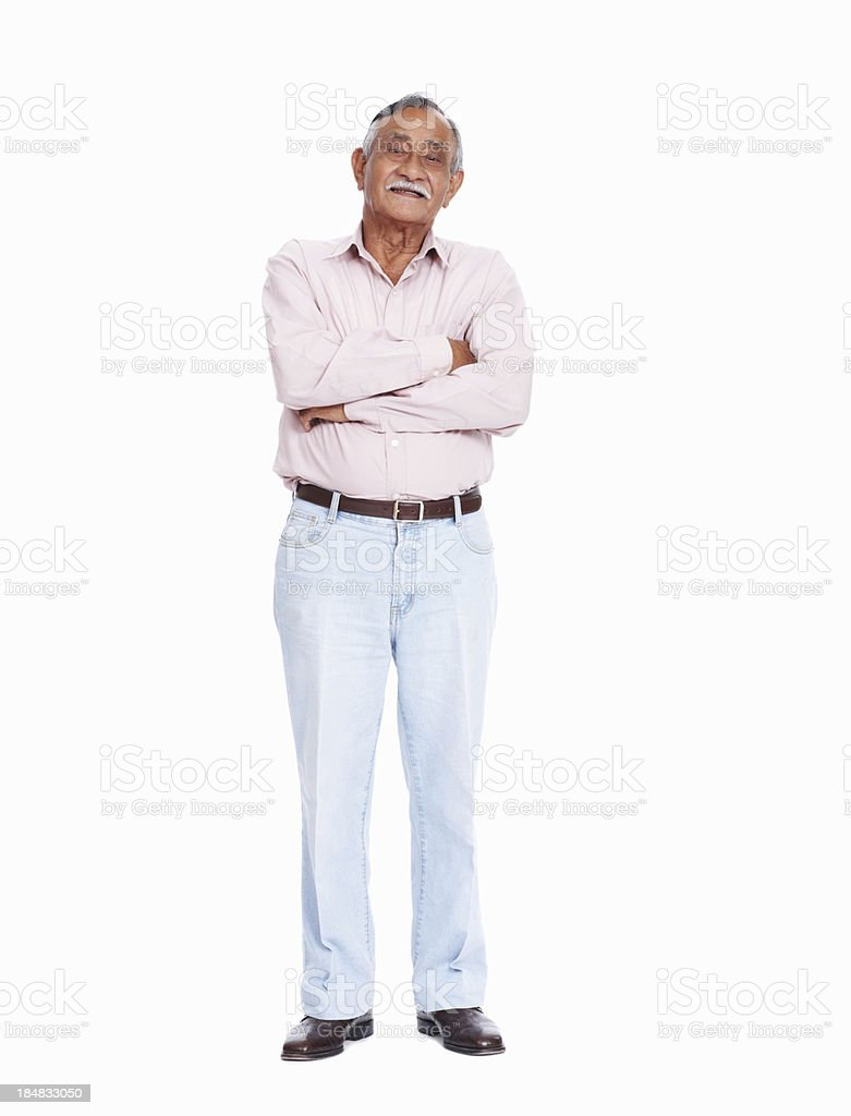 Asian senior man smiling stock photo