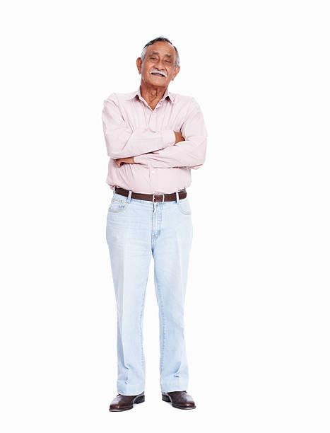 asian senior man smiling - indian man stock photos and pictures