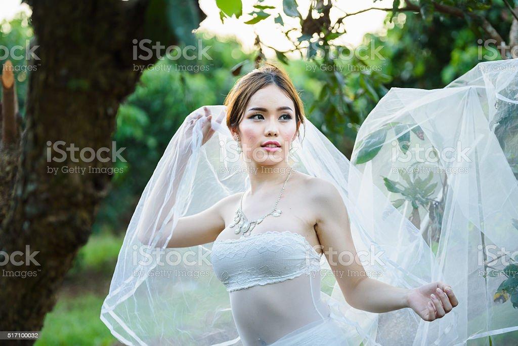 Asian Sexy Underwear Girl Lady Thai Wedding Style Royalty Free Stock Photo