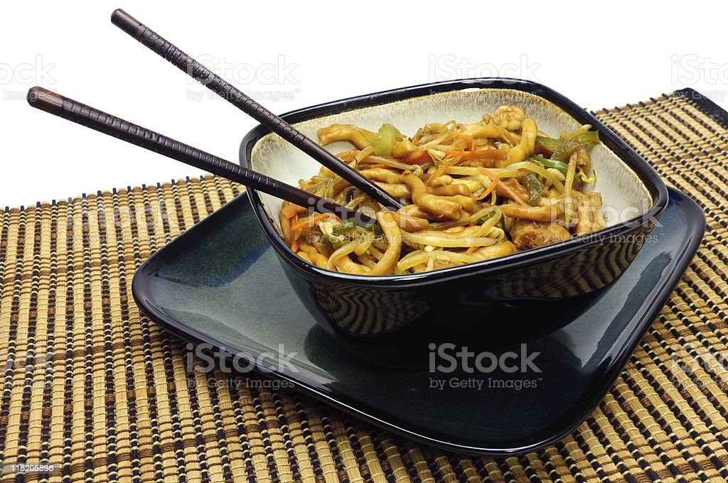 Asian Shanghai Noodles royalty-free stock photo