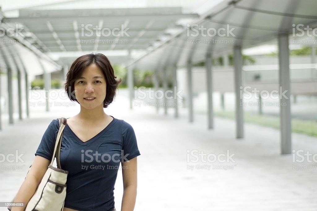 Asian shopper royalty-free stock photo