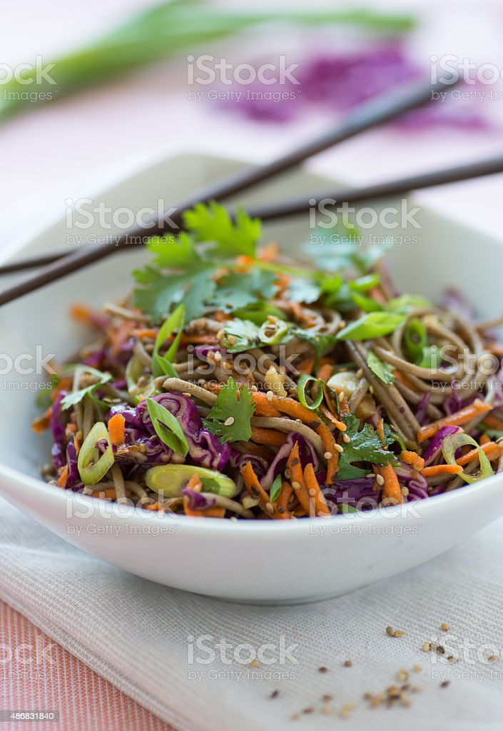 Asian Soba Salad stock photo