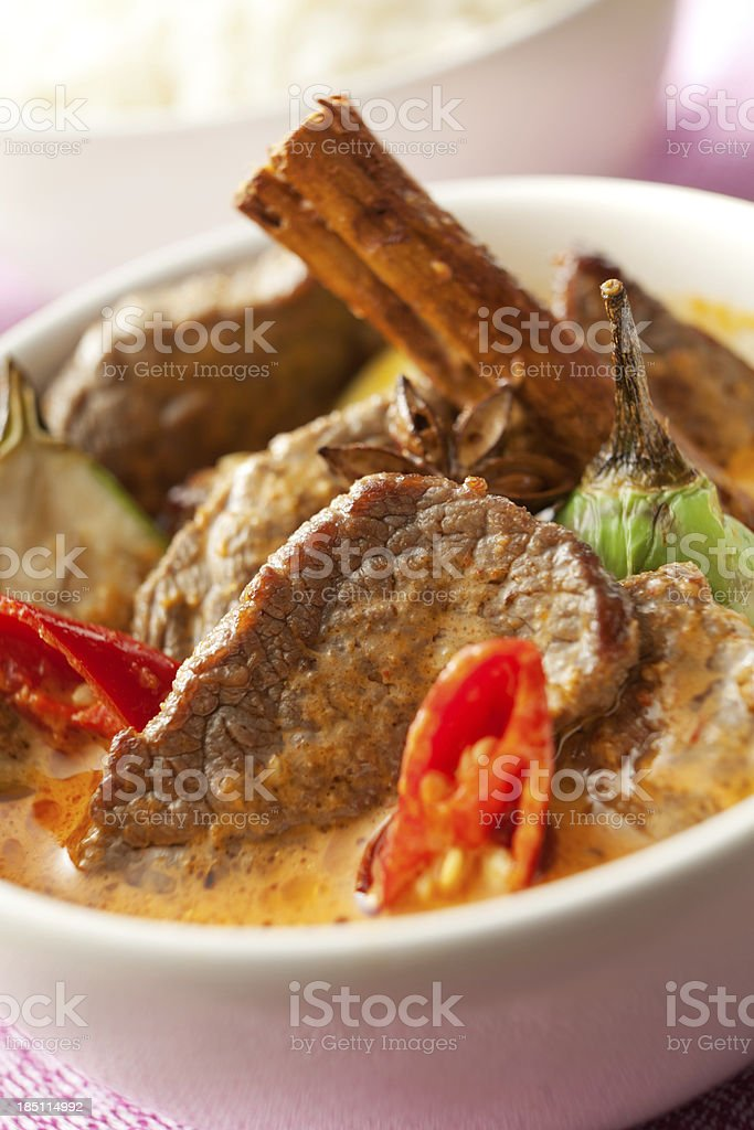 Asian Stills: Beef Curry with Cinnamon and Star Anise royalty-free stock photo