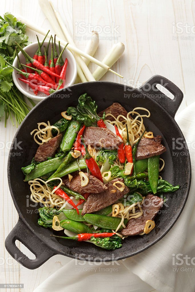 Asian Stills: Stir Fried Beef and Noodles stock photo