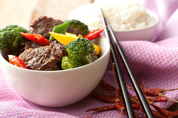 Asian Stills: Stir Fried Beef and Vegetables stock photo