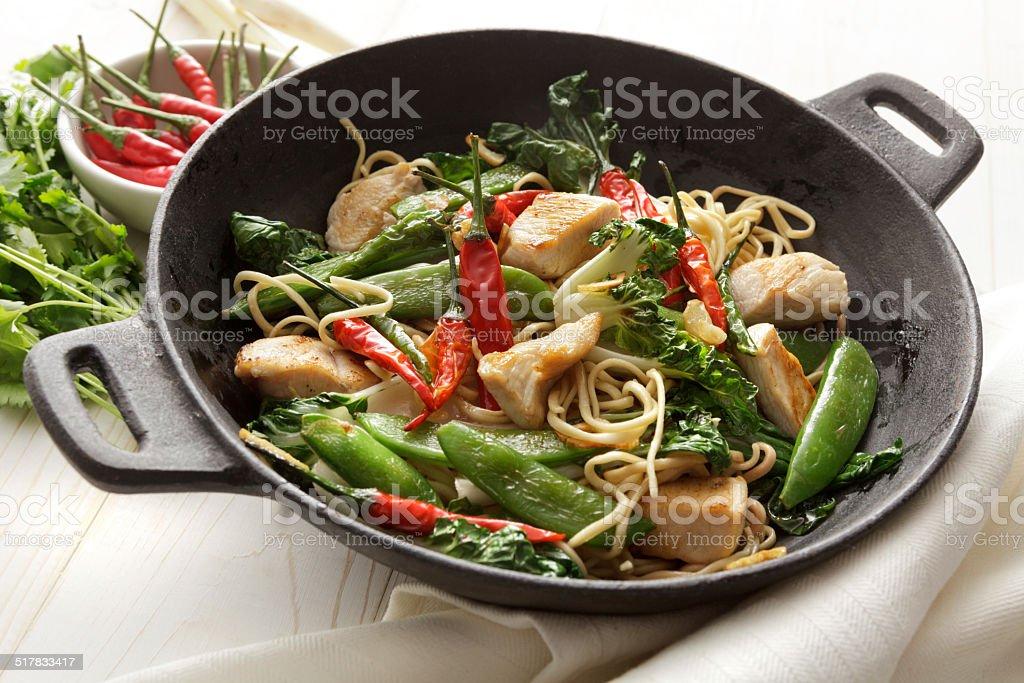 Asian Stills: Stir Fried Chicken and Noodles stock photo
