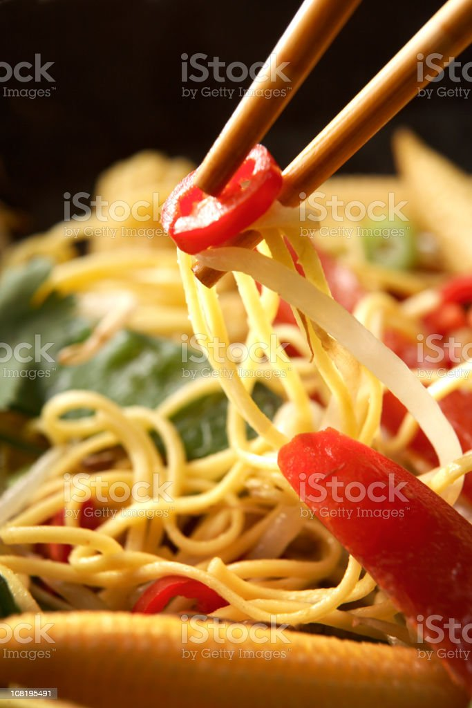 Asian Stills: Stir Fried Noodles royalty-free stock photo
