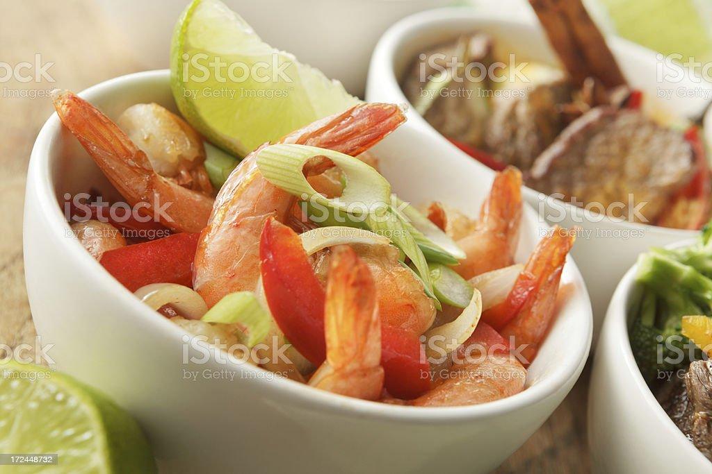 Asian Stills: Stir Fried Shrimps and Lemon royalty-free stock photo