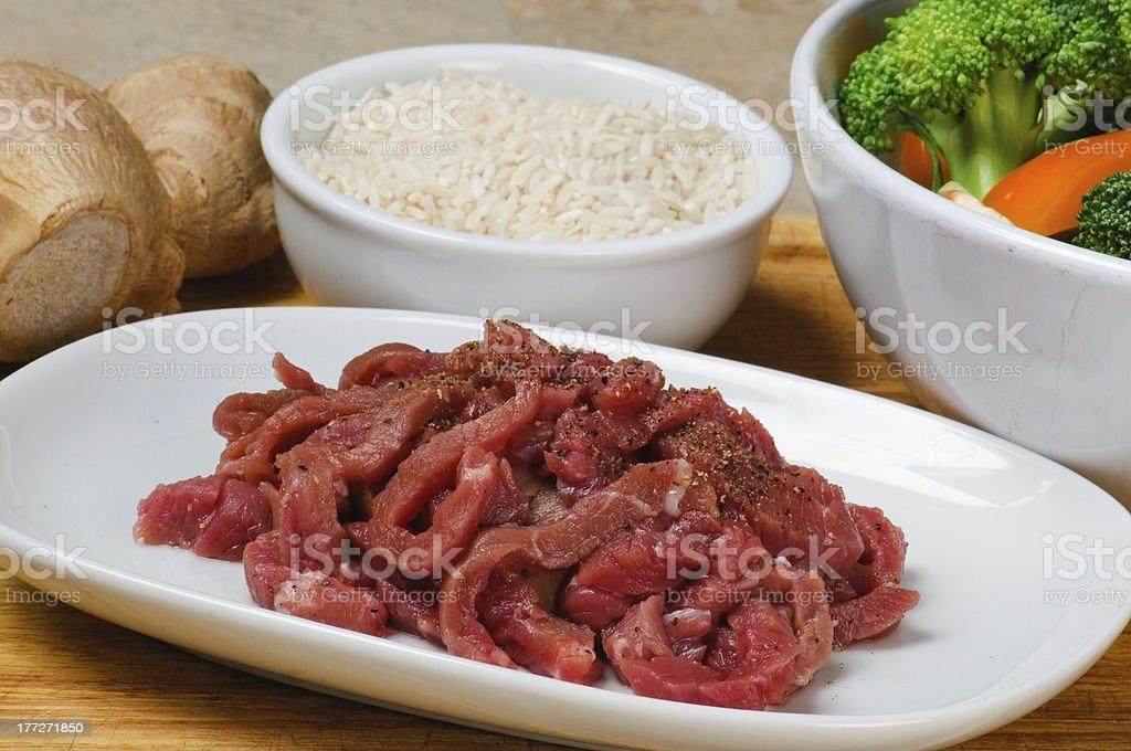 Asian Stir-Fry Ingredients stock photo