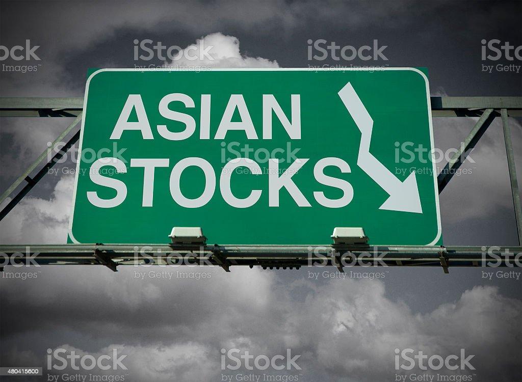 Asian Stocks stock photo