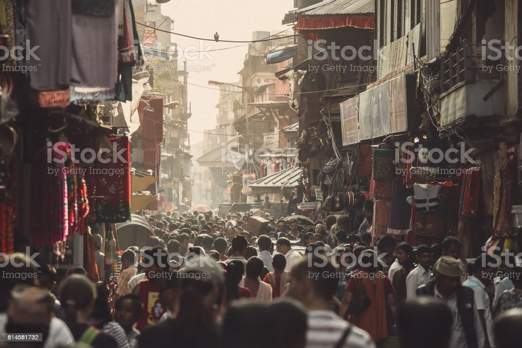 Asian street life stock photo