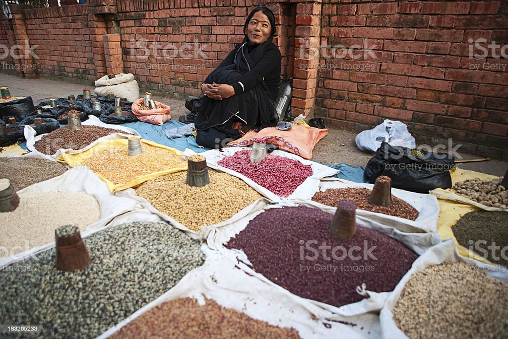 Asian street seller royalty-free stock photo