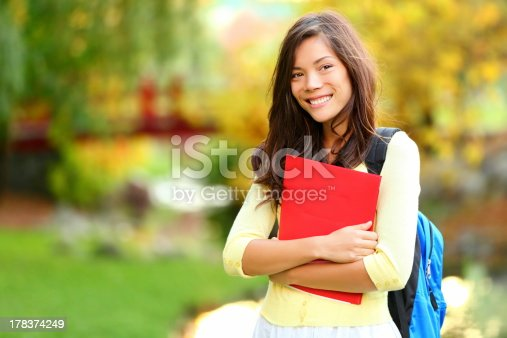 istock Asian student girl on campus 178374249