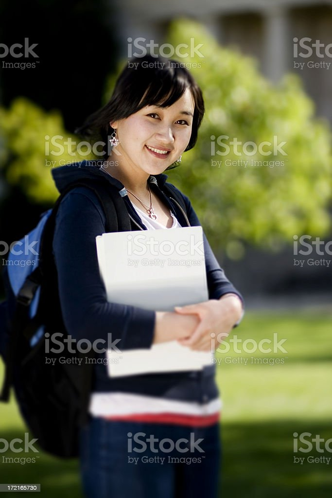 Asian Student Portrait royalty-free stock photo