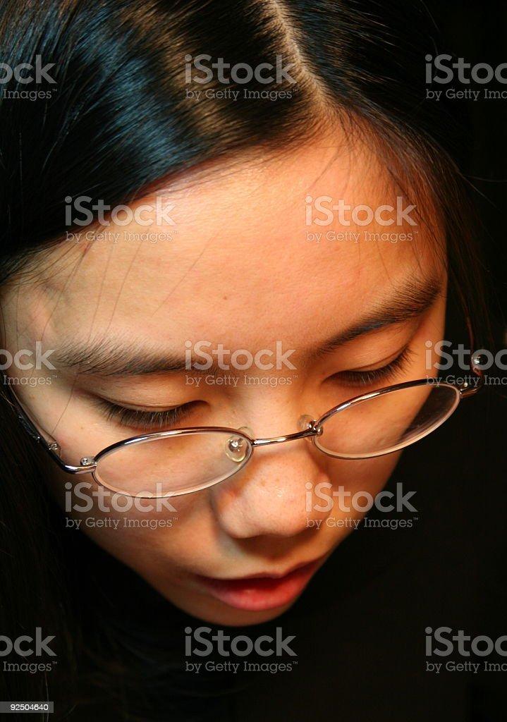 Asian Student Thinking royalty-free stock photo