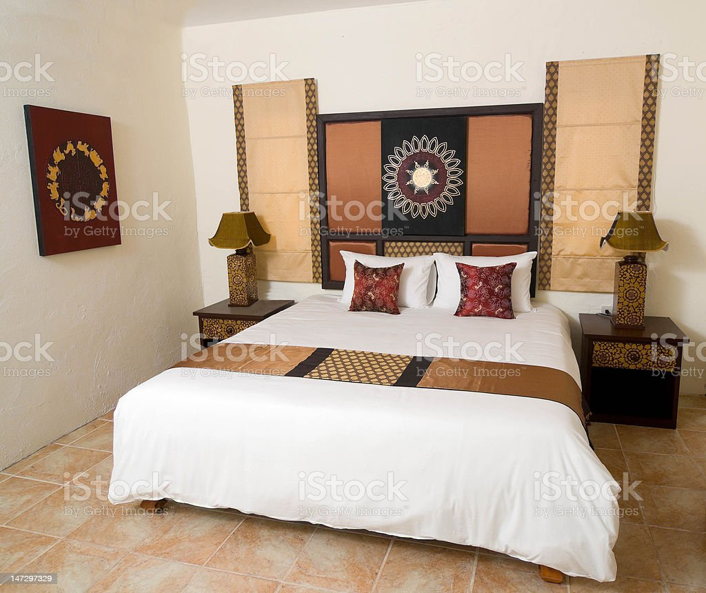 Asian Style Bedroom Stock Photo - Download Image Now - iStock