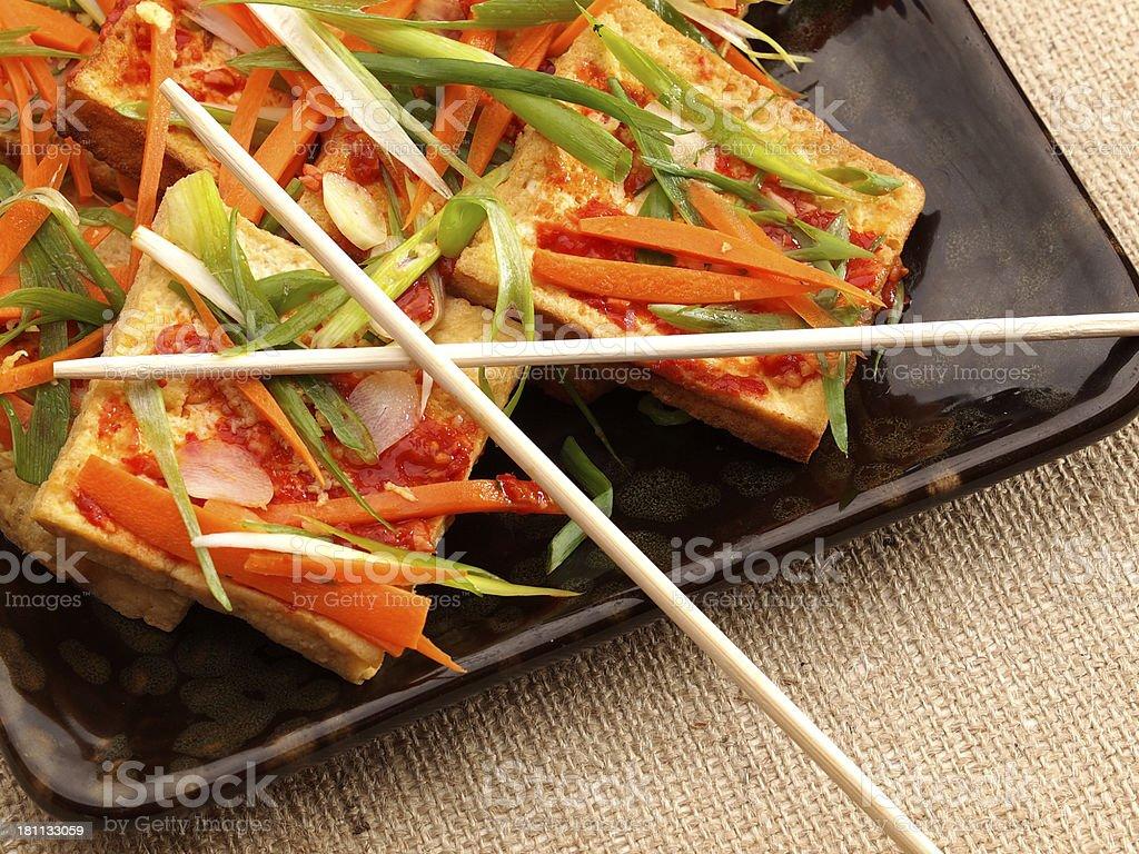 Asian Style Braised Tofu royalty-free stock photo