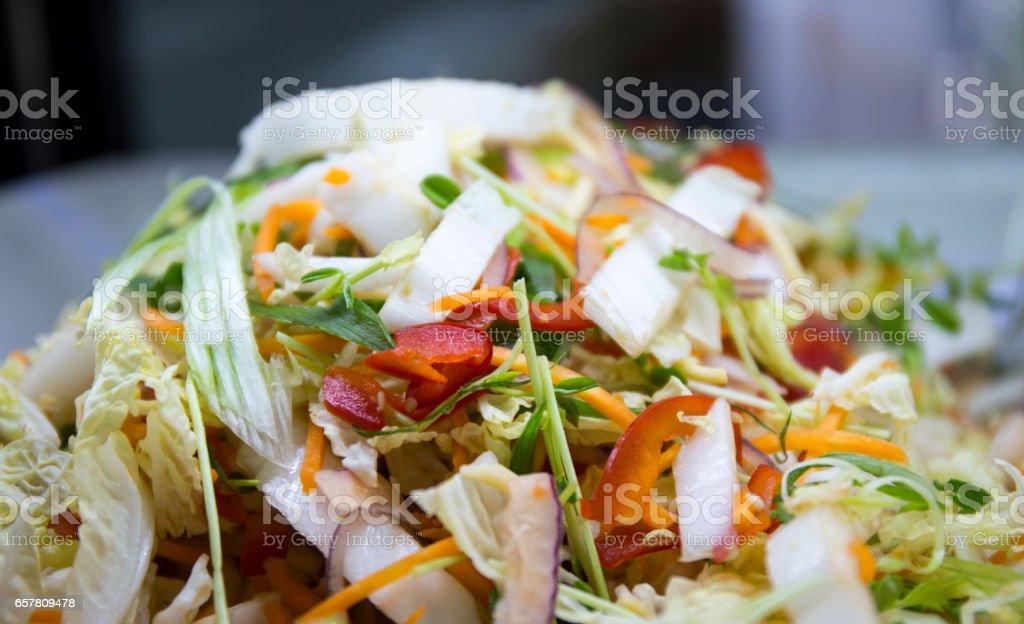 Asian style salad stock photo
