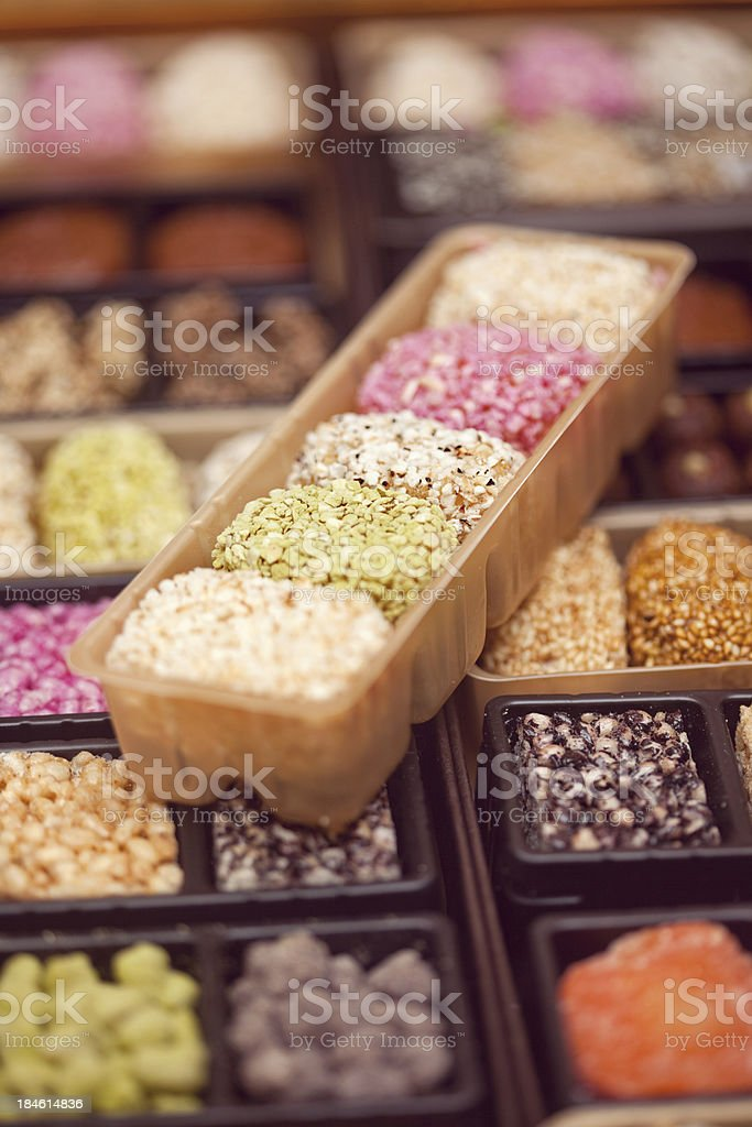 asian sweets stock photo