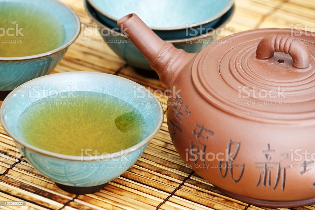 Asian tea Set royalty-free stock photo