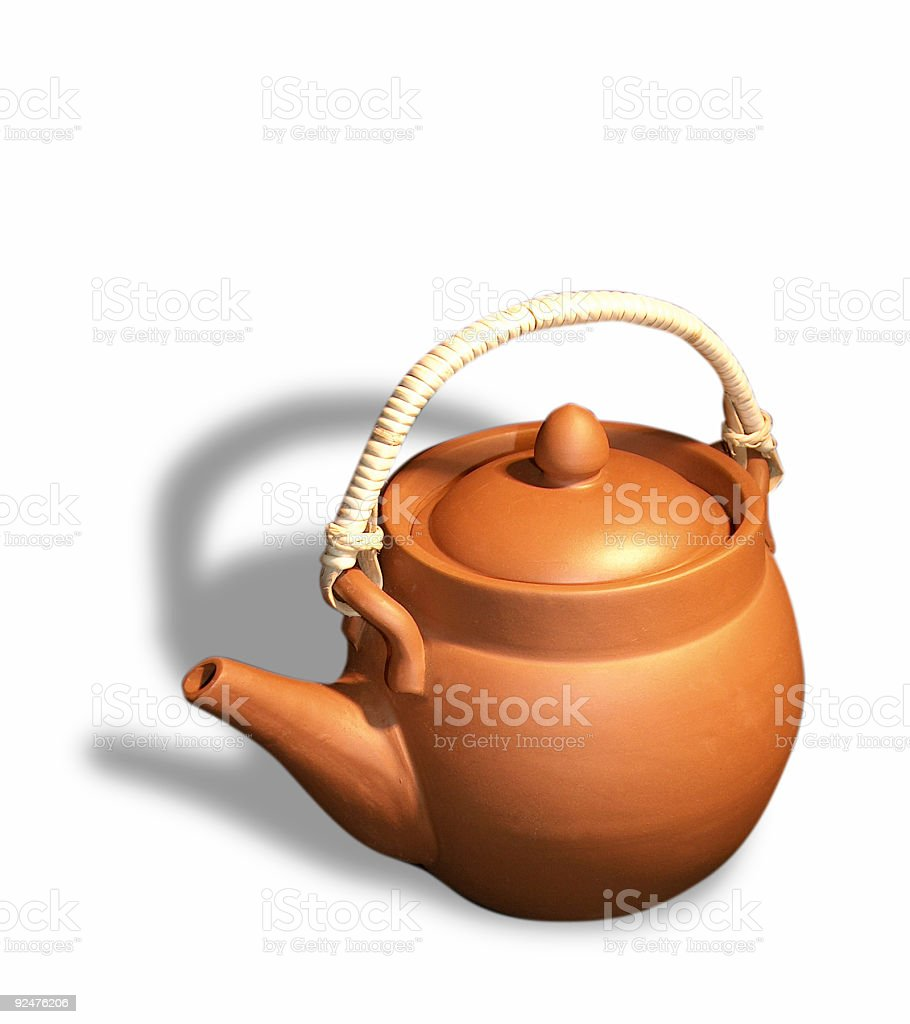 Asian teapot (w. clipping path) royalty-free stock photo