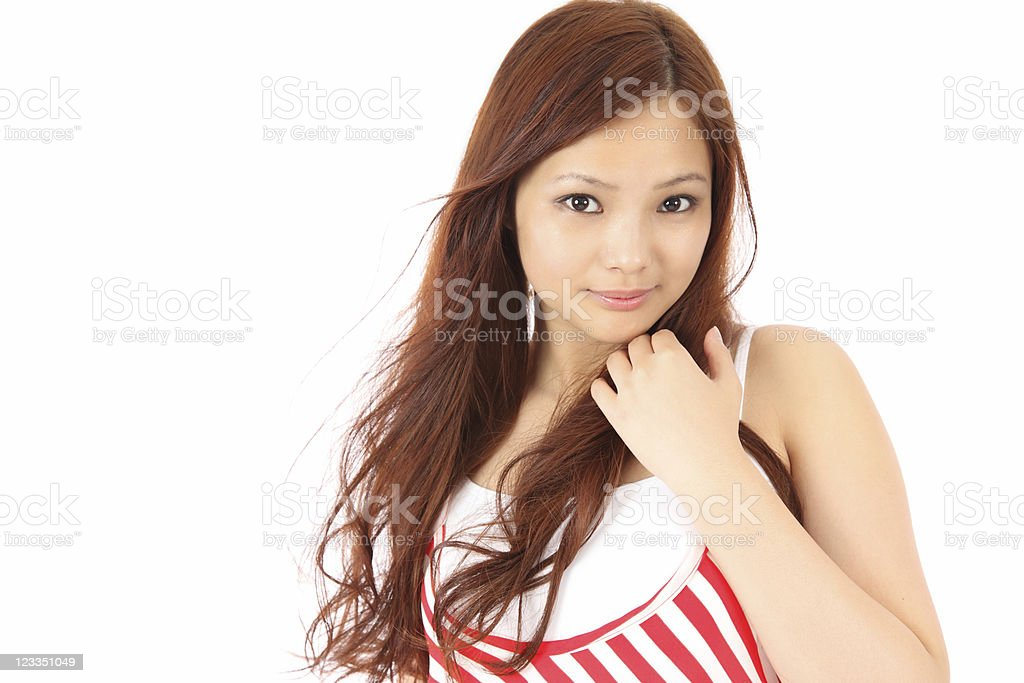 Asian teen royalty-free stock photo